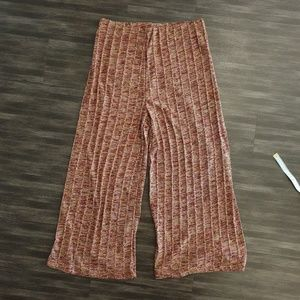 Zara High Waisted Culottes Wide Pants Knit small